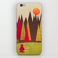red riding hood iPhone & iPod Skins featuring Little Red Riding Hood by Annisa Tiara Utami