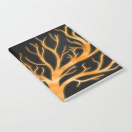 Ghostly Vines (Flaming Orange Ghost) Notebook