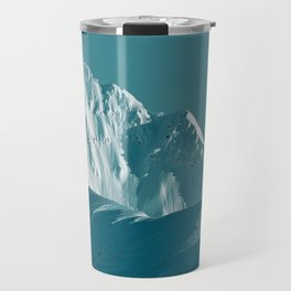 Alaskan Mts. I, Bathed in Teal Travel Mug