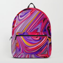 Waves and swirls, abstract, decorative patterns, colorful piece no 17 Backpack
