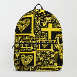 Yellow Toxic Hearts Backpack