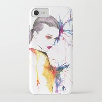 beth hoeckel iPhone & iPod Cases featuring Beth by Amy Jane Eaton