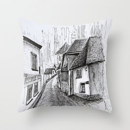 Architecture Sketch, Germany Throw Pillow