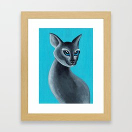 Big Blue Eyes Framed Art Print