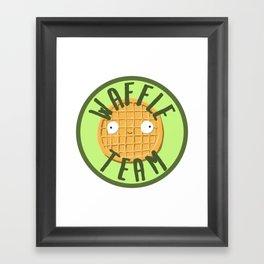 Waffle Team Framed Art Print