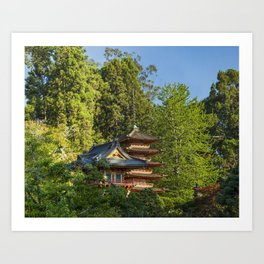 Pagodas (Tō) in Japanese Tea Garden, Golden Gate Park, San Francisco, California Art Print
