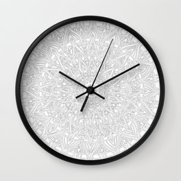 May your inner self be secure and happy (white on white) Wall Clock