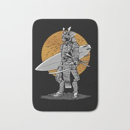 Samurai Surfer Bath Mat