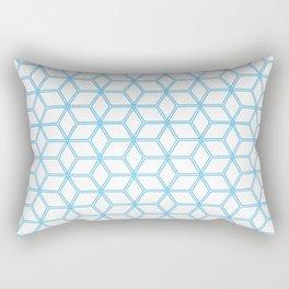 Hive Mind Blue #108 Rectangular Pillow