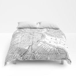 Vintage Map of Boston (1878) Comforters