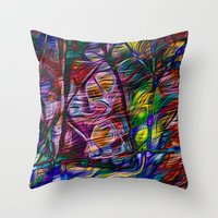 crystal Throw Pillows featuring Crystal by Stephen Linhart