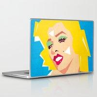pop art Laptop & iPad Skins featuring pop art  by mark ashkenazi