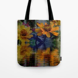 Dusted  Zinnias Tote Bag