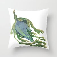 let it go Throw Pillows featuring Let Go by Rhea Ewing