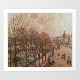 Camille Pissarro - The Quai Malaquais and the Institute Art Print