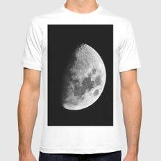 Moon MEDIUM Mens Fitted Tee White