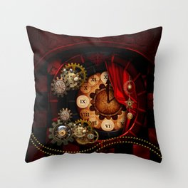 Steampunk, wonderful clockwork Throw Pillow