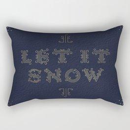 Let it Snow – Navy Rectangular Pillow