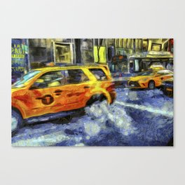 New York Taxis Art Canvas Print