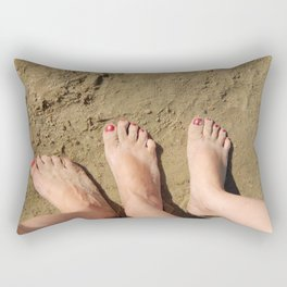 Feet in the sand Rectangular Pillow