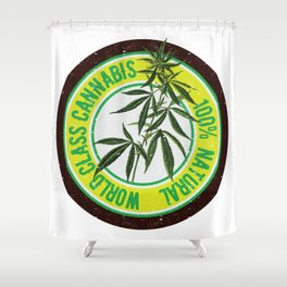 World Class Cannabis Shower Curtain