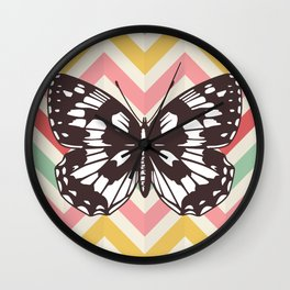 Colorful Butterfly Print - Buttefly Home Decor Wall Clock