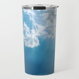 rays of sunlight, hope of a sunny afternoon Travel Mug
