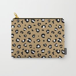 Spotted little leopard minimal animals print panther pattern cinnamon ochre Carry-All Pouch