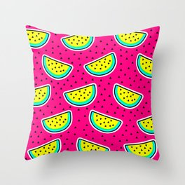 Cosmic Watermelon Throw Pillow