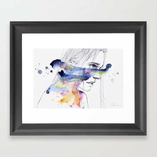 the water workshop IV Framed Art Print