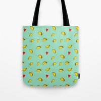 taco Tote Bags featuring Taco Tuesday by creativaty