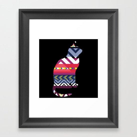 Tribal Feline Framed Art Print