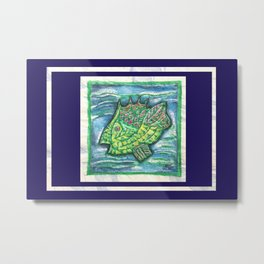 Counter Fish Metal Print