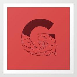 G Illustrated Art Print