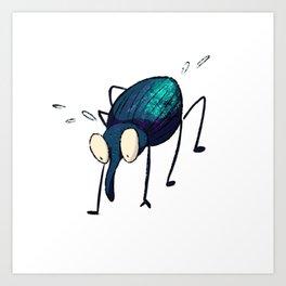 Distraught Beetle 2 Art Print