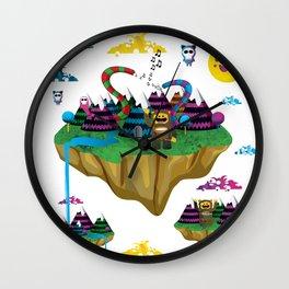 Islands in the Sky Wall Clock