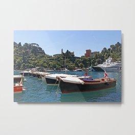 Boats - Portofino Metal Print