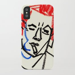 red hair man smoking iPhone Case