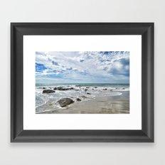 Waiting for Waves Framed Art Print