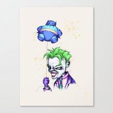 Bat Balloon Canvas Print