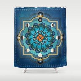 Mandala Moon Phases Shower Curtain