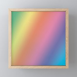 Vintage Pastel Rainbow Stripes Framed Mini Art Print