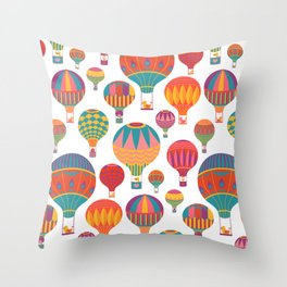 Air Balloons Throw Pillow