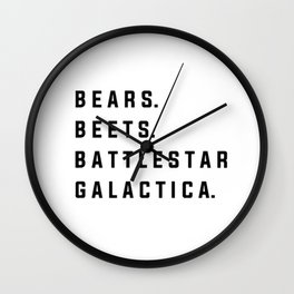 Dwight Schrute Quote Wall Clock