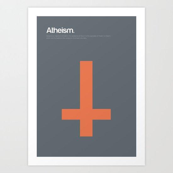 Atheism Art Print
