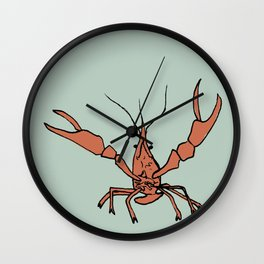 Mr. Crawfish Wall Clock