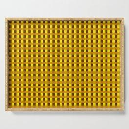 Retro Yellow Squares Serving Tray