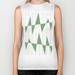 Abstract geometric pattern on white background Biker Tank