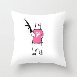 BiPolarBear Throw Pillow