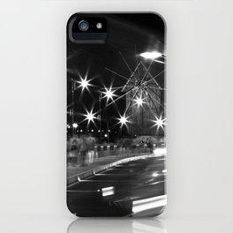 b&w street motion iPhone Case